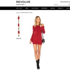 NEW Lovers + Friends Westmont Sweater Dress Red